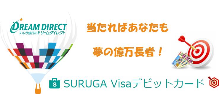 SURUGA Visaデビットカード(ドリームダイレクト)の特徴