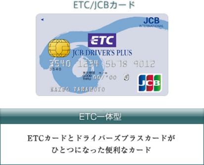 JCBドライバーズプラスカードETC一体型