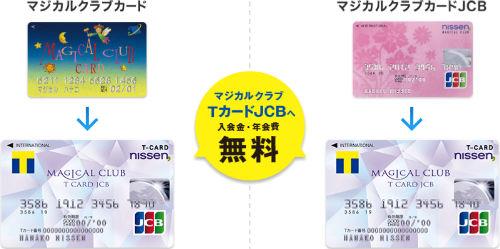 「マジカルクラブカード」および「マジカルクラブカードJCB」からの切替えは手数料無料
