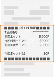 ahoo! JAPAN以外の領収書には期間固定Tポイントは表示されない
