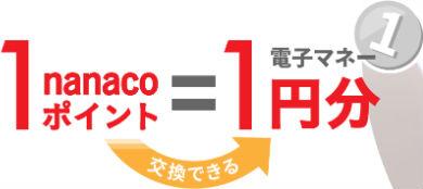 nanacoポイント交換